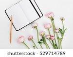 beautiful spring ranunculus... | Shutterstock . vector #529714789