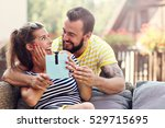 picture showing happy couple... | Shutterstock . vector #529715695