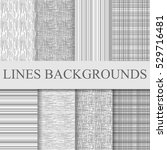 grey black and white striped...   Shutterstock .eps vector #529716481