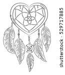 ink heart dreamcatcher with...   Shutterstock .eps vector #529717885