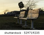 unoccupied benches on winter... | Shutterstock . vector #529719235