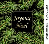 joyeux no  l   text in french... | Shutterstock . vector #529722355
