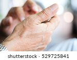 close up of older man checking... | Shutterstock . vector #529725841