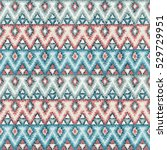 ethnic zigzag tribal seamless... | Shutterstock . vector #529729951