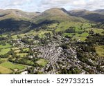 aerial view of ambleside town...
