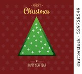 christmas tree background... | Shutterstock .eps vector #529738549