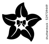 flower star icon. simple... | Shutterstock .eps vector #529739449