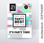 invitation disco party poster... | Shutterstock .eps vector #529741009