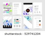 geometric background template... | Shutterstock .eps vector #529741204