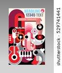 abstract art composition vector ... | Shutterstock .eps vector #529741441