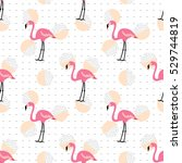 flamingo seamless pattern.... | Shutterstock .eps vector #529744819