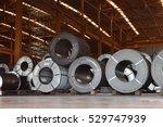 raw material handling  steel...   Shutterstock . vector #529747939