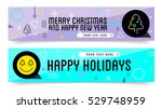 set of sale christmas and new... | Shutterstock .eps vector #529748959