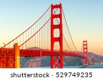 Stock photo golden gate bridge in san francisco california usa 529749235