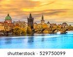 Prague  View Of Charles Bridge...