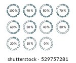 icons progress bar with... | Shutterstock .eps vector #529757281