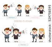 coworker or manager listen to... | Shutterstock .eps vector #529758595