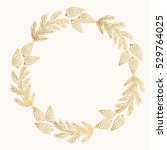 wreath with fir branches and... | Shutterstock .eps vector #529764025