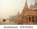 varanasi  india   jan 4  early...   Shutterstock . vector #529765561