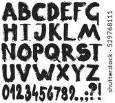 alphabet paint brush texture... | Shutterstock .eps vector #529768111