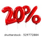 20  discount made of red... | Shutterstock . vector #529772884