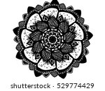 abstract ornament flower black... | Shutterstock .eps vector #529774429