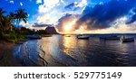 serene tropical sunset.... | Shutterstock . vector #529775149