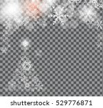 christmas snowflakes background ... | Shutterstock .eps vector #529776871