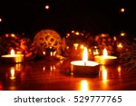 burning candles flame light at... | Shutterstock . vector #529777765