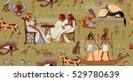 ancient egypt seamless pattern. ... | Shutterstock .eps vector #529780639