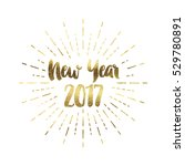 gold glitter foil new year... | Shutterstock . vector #529780891
