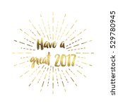 gold glitter foil new year... | Shutterstock . vector #529780945