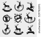 deer labels and elements set.... | Shutterstock .eps vector #529782091