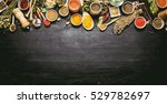 big set of indian spices and... | Shutterstock . vector #529782697