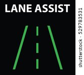 lane assist icon in car...   Shutterstock .eps vector #529783531