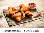 Smoked Chicken Wings With Sauce....