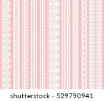set of seamless lattice borders.... | Shutterstock . vector #529790941