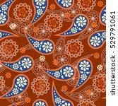 paisley seamless pattern.... | Shutterstock .eps vector #529791061
