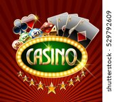 chic vector logotype for casino ... | Shutterstock .eps vector #529792609