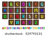 letter blocks. vector... | Shutterstock .eps vector #529793131