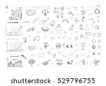 sketch of business elements in... | Shutterstock .eps vector #529796755