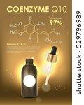 coenzyme q10. supreme collagen... | Shutterstock .eps vector #529796989