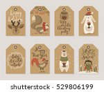 christmas kraft paper cards and ... | Shutterstock .eps vector #529806199