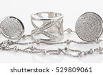 variety of silver jewelry  ... | Shutterstock . vector #529809061