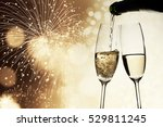 toasting with champagne glasses ... | Shutterstock . vector #529811245