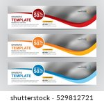 abstract banner design... | Shutterstock .eps vector #529812721