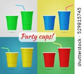 Plastic Arty Cups Isolated  Tw...