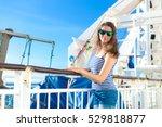 beautiful cute russian girl... | Shutterstock . vector #529818877