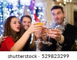 group of friends having party... | Shutterstock . vector #529823299