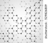 hexagonal molecule structure of ... | Shutterstock .eps vector #529826809